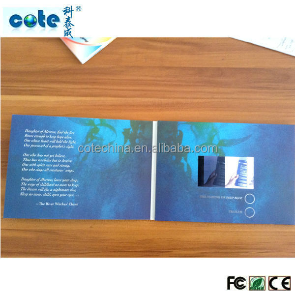 "Hot selling customized 2.4""2.8""3.5""4.3""5""7""8""10"" lcd greeting card for party"