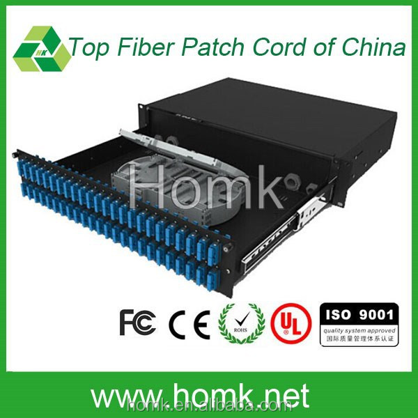 <strong>10</strong> years' guarantee SC DX rack mount patch panel / 48 port ODF Fiber Optic Patch Panel