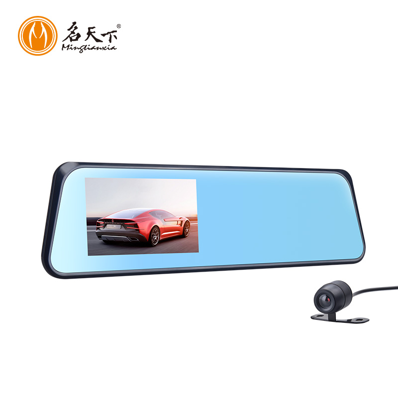 Dual view car dvr vehicle blackbox camera full hd 1080p 4.3'' Rear view mirrors