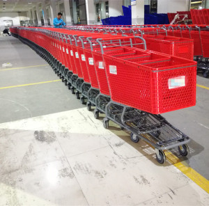 2018 changshu Steel Material and Unfolding Style Shopping Trolley Cart