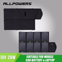 Allpowers Foldable Solar Mobile Charger Pack Portable Solar panel charger 18V 28W Outdoors Emergency Battery for Outdoor Devices