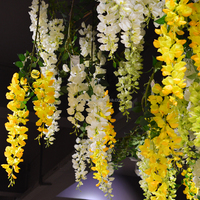 3 branch new design artificial wedding wisteria flower