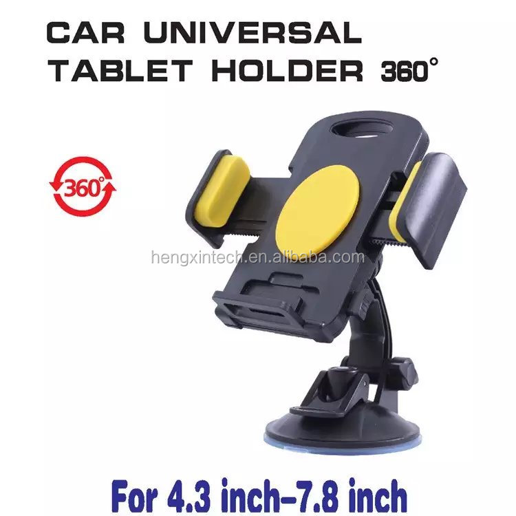 New 360 Degrees Rotation Universal Car Windshield Mount Mobile Phone Holder for iPhone & for Samsung 4.3 inch-7.8 inch Tablet PC