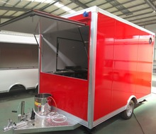 Low price coffee shop food mobile truck trailer