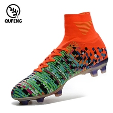 Men Sports High ankle indoor Football boots shoe Messi CR7 Soccer Shoes