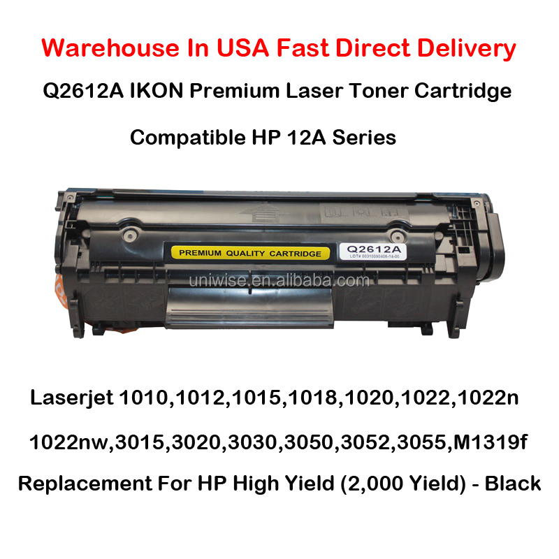 Q2612A 12A Series Toner Cartridge For HP 1010,1012,<strong>1015</strong>,1018,1020,1022,1022n,1022nw,3015,3020,3030,3050,3052,3055,M1319f Black