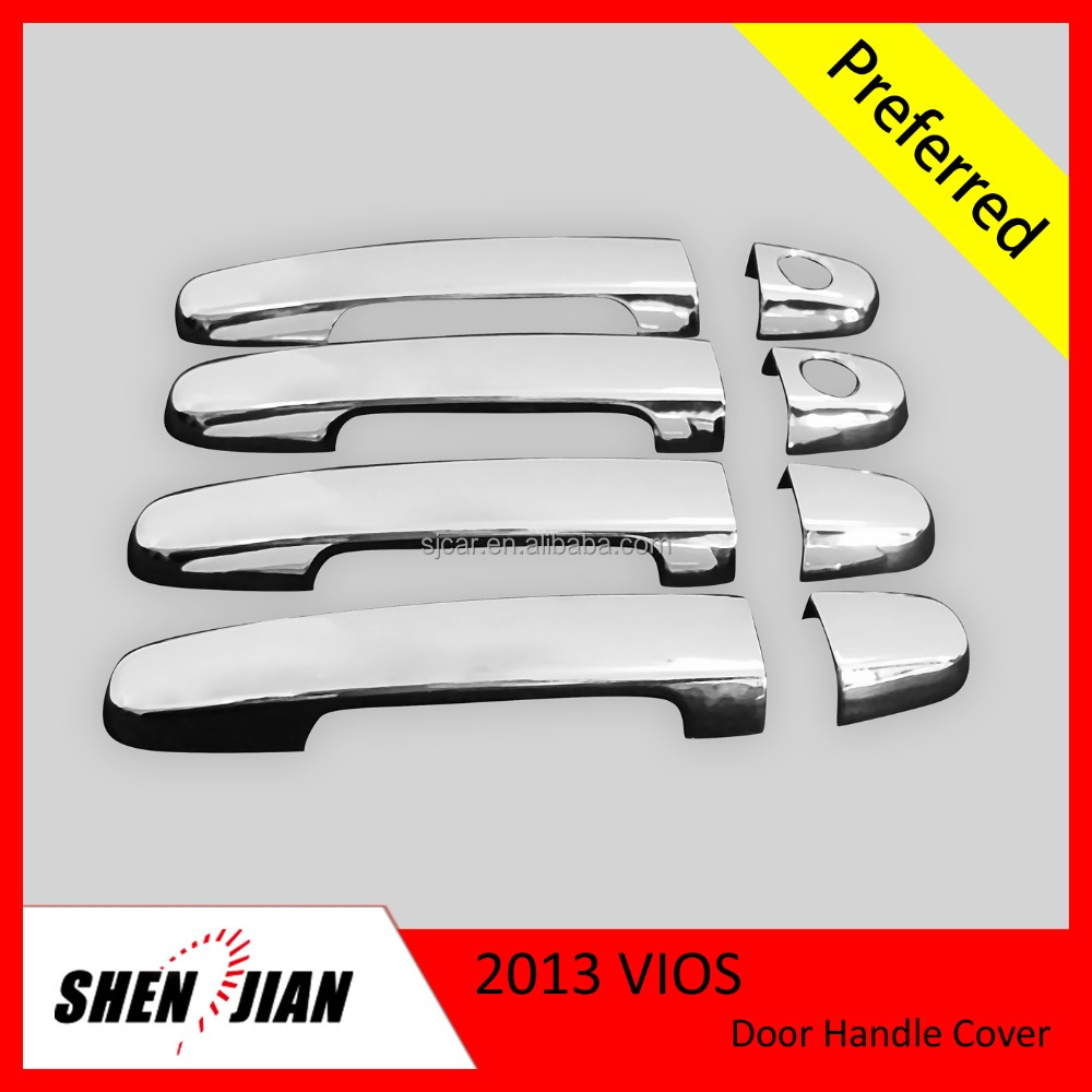 Car Exterior Accessories Chrome Door Handle Cover For Toyota Vios 2013