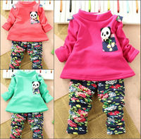 2pcs floral kids clothings