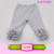 2017 USA New pattern Ruffle pants Christmas silk screen printing red stripe baby icing ruffle pants Leggings Capris Girls 2T-8T