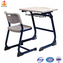 cheap used height adjustable single seat metal base school desk