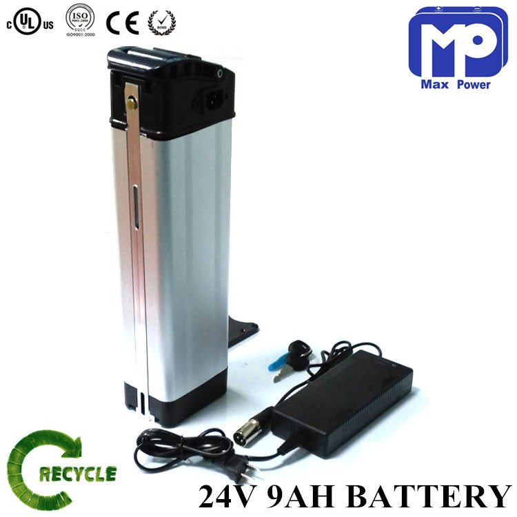 Best Chinese battery supplier 24v 9ah li-ion scooter battery with BMS and charger