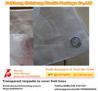 transparent tarpaulin to cover fruit trees
