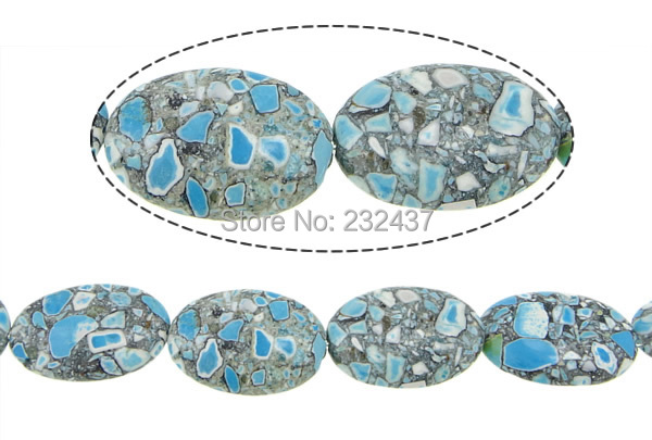 Free shipping!!!Turquoise Beads,2014 Fashion Jewelry, Mosaic Turquoise, Oval, 30x20x8-9mm, Hole:Approx 1.5mm