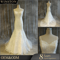 2016 New Design Custom Made 2016 trumpet wedding dress patterns