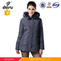 cheap winter short gray quilted padded coat