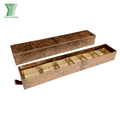 High Quality Wood Pattern Cardboard Gift Box with Plastic Insert