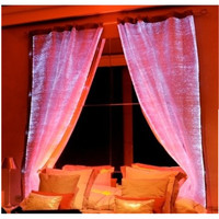 illuminated led light burlap curtains curtain design for bedroom