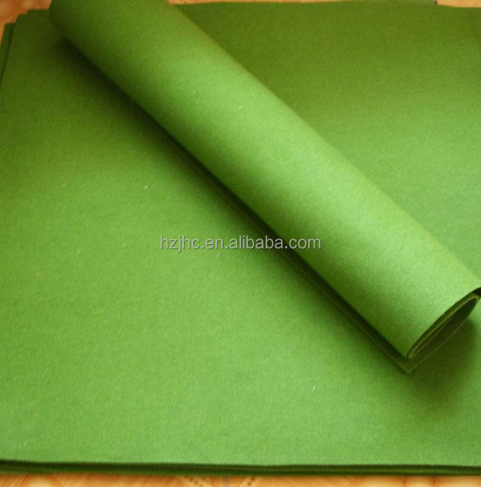 JHC green color tennis ball felt manufacturer