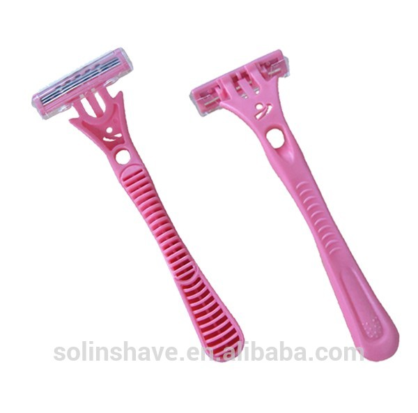 long handle triple blade razor