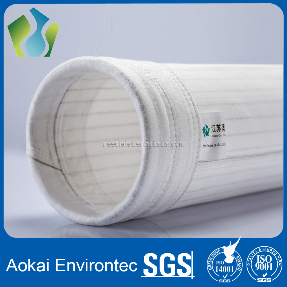 Anti static polyester non-woven dust bags for cement dust filter