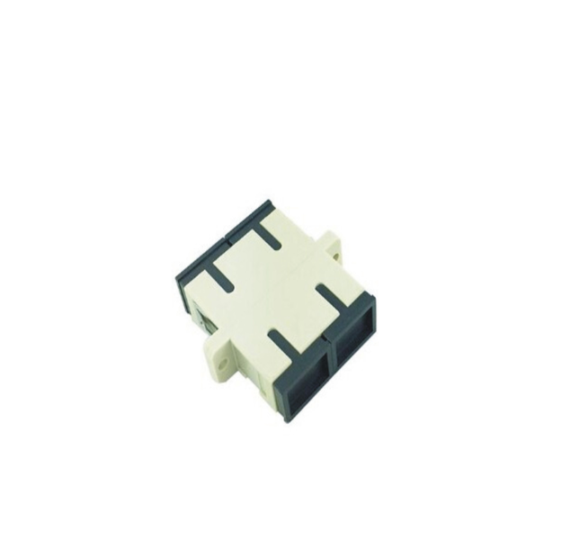 SC/PC Multimode Duplex Fiber Optic Adapter(Black Dust Cap)