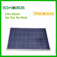 USA Stock No Duty no Tax high quality A grade 100w solar panel 100w 12v free shipping