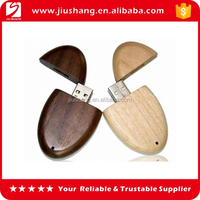 Personalized mini ovel decorative wooden usb flash drives