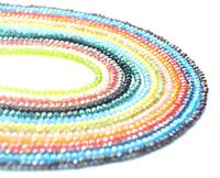 Faceted Glass Crystal Beads Strands Briolette Rondelle Crystal Beads Spacer for Jewelry Making