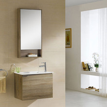 Small Wall Mounted Wood Shelves Bathroom Cabinet And Vanity