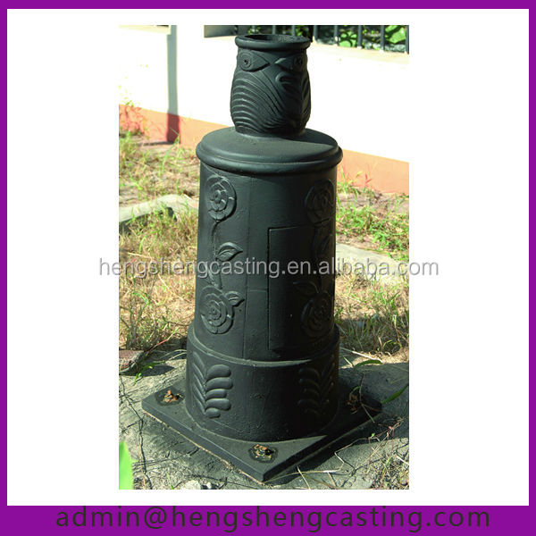 outdoor cast iron street lamp post base