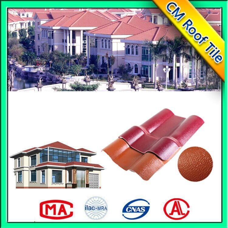 Trade Assurance Plastic Waterproof Synthetic Resin Lightweight Roof Tile