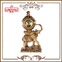 European luxury polyresin retro desk clock 594BK