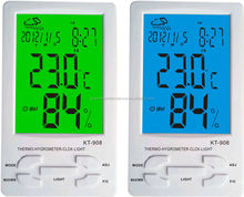 KT-908 blue LED in/out humidity car digital thermometer