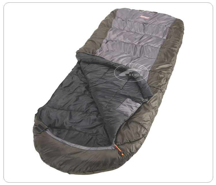 Popular Travel Backpacking Oversize Double Layer Outdoor Camping Hooded Sleeping Bag
