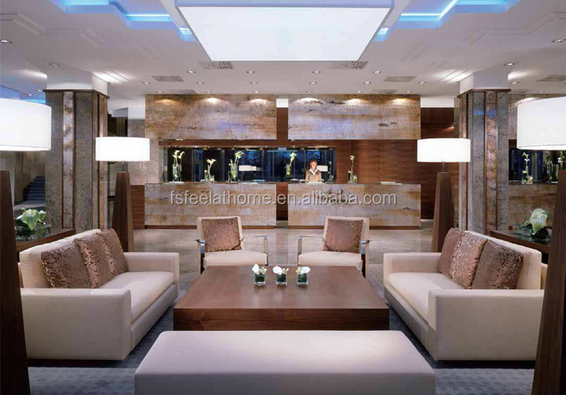 Modern Hotel Lobby Furniture Sectional Couches Fabric Sofa