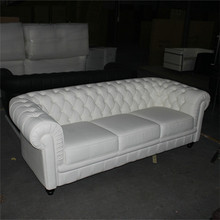 Luxury europe style white black replica Chesterfield armchair sofa for 3 seater