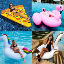 LCOSE custom pool float Inflatable water pool toys 190cm pvc pink flamingo giant pool float