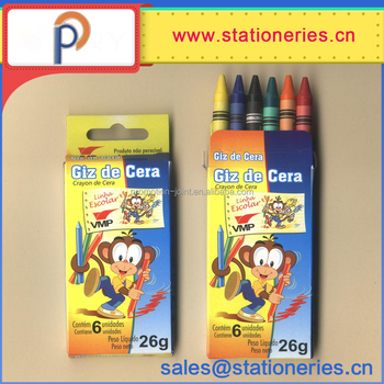 Colorful Art Drawing Kids high quality wax crayon