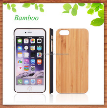Nature bamboo wooden mobile phone case for iphone 6 , blank wood cell phone cover , mobile phone accessories
