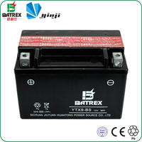 Maintenance Free 12v9Ah Lead Acid Battery Tricycle YTX9-BS