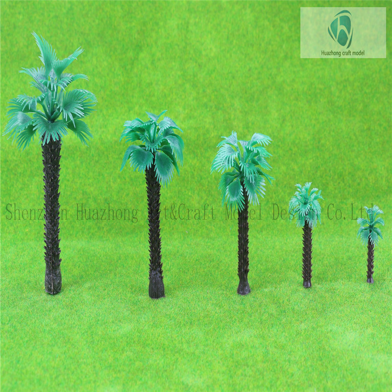 scale plastic Architectural Model Tree Palm Tree