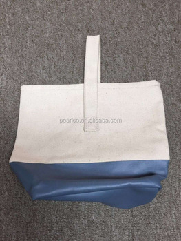 2016 New dipped canvas tote bag