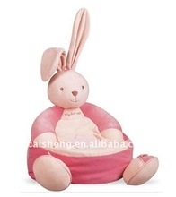 Pink plush rabbit sofa
