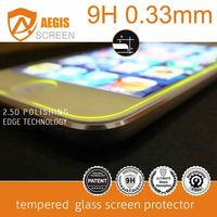 New arrival! 9H Yellow Fluorescence color tempered glass screen protector for iPhone 6