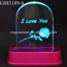 glass craft with LED light
