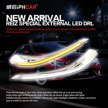 Factory directly sale! New design external led drl, easy to install without removing headlight
