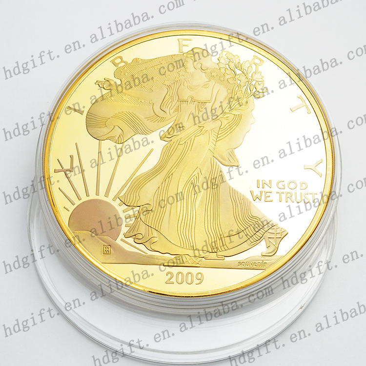 In God We Trust Promotion Souvenir Gifts Metal Prize Gold Plating Tokens Coins