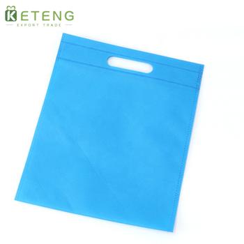 Wholesale customized logo red/blue/green/white/grey/black d cut non-woven bags for T-shirt