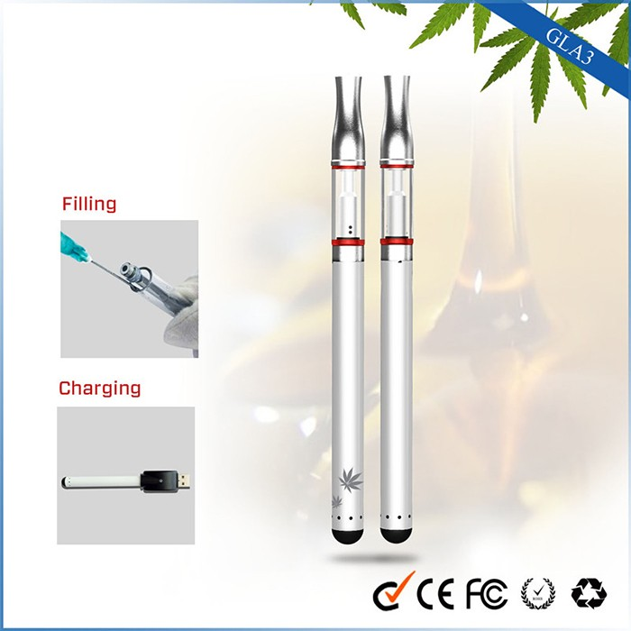 2017 fast shipping 510 CBD Oil Cartridge 510 Glass Vape Pen Portable E Cig