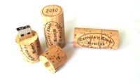 Wooden Wine Cork USB Sticks 8GB 16GB with Engraved Logo